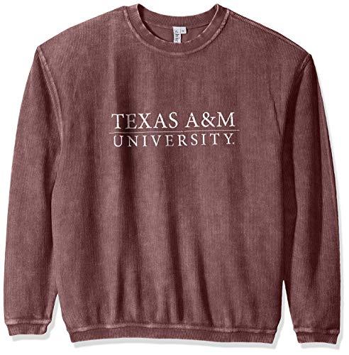 (chicka-d Women's Corded Sweatshirt, Maroon, Large)