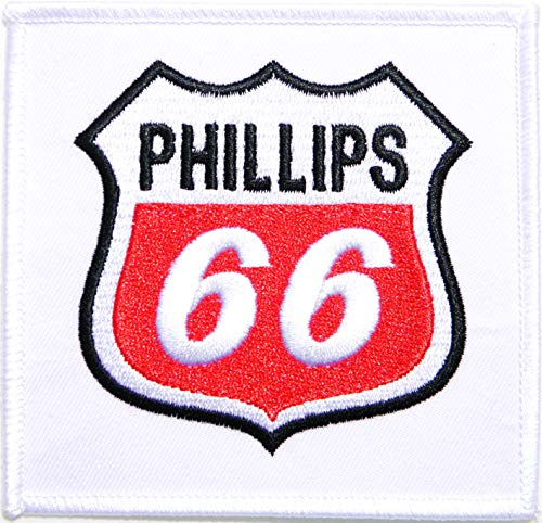 Phillips 66 Vintage Gas Station Pump Racing Biker Patch Iron on Sewing Embroidered Applique Logo Badge Sign Embelm Craft Gift