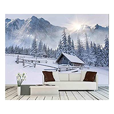 Grand Creative Design, Made For You, Old Farm in The Mountains Foggy Winter Morning