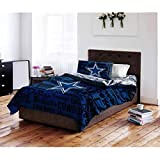 NFL Dallas Cowboys Bed in a Bag Complete Bedding Set, Full