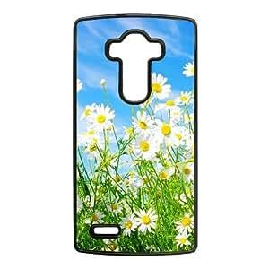 LG G4 Phone Case Black Daisy Flower NLG7786115