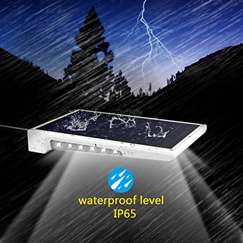 Creative Design 46 LED Solar Lights Outdoor with Mounting Pole, 4 Modes Solar Gutter Light Motion Sensor Light Wall Light for Patio, Barn,Porch,Garage,Stairs, Pack of 2 by CREATIVE DESIGN (Image #1)