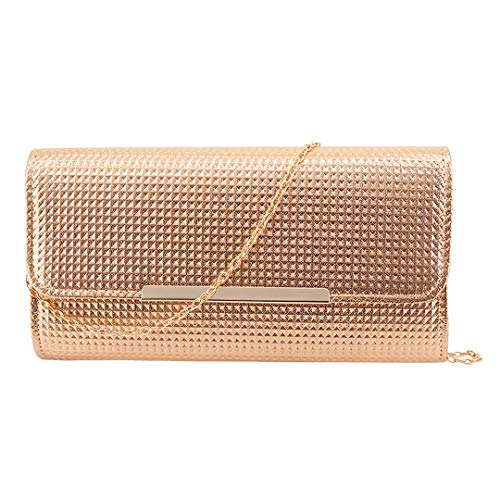 Party for Bag Shiny Wedding Bag Evening 01023 Clutch Detachable Dazzling Naimo Chain Purse with Womens Champagne xOwf4UqPC
