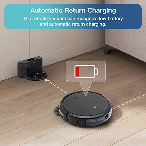 Yeedi K600 Robot Vacuum Cleaner with Turbo Mode Suction Up to 1500Pa, Self-Charging, Quiet Cleaning for Pet Hair, Hard Floors and Carpets, Up to 110 min Runtime
