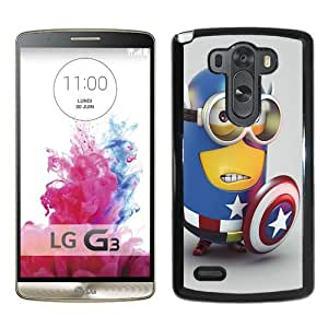 Fashionabe LG G3 Case ,Popular And Unique Designed Case With Minion Captain America Black LG G3 Cover Phone Case