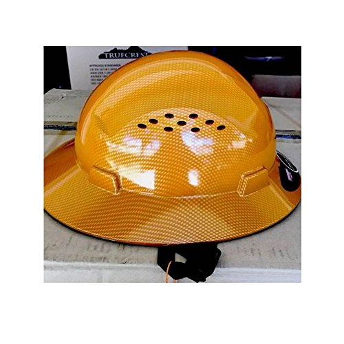 Natural Tan Full Brim Hard Hat with Fas-trac Suspension Cool Air Flow from Unknown