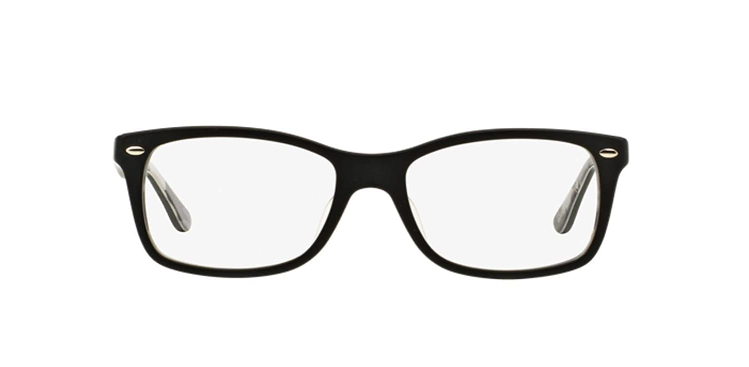 5abd86589 Amazon.com: Ray-Ban 0rx5228f No Polarization Square Prescription Eyewear  Frame Top Matte Black on Texture Camuflage 53 mm: Clothing