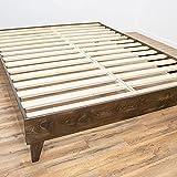 eLuxurySupply Wood Bed Frame - 100% North American