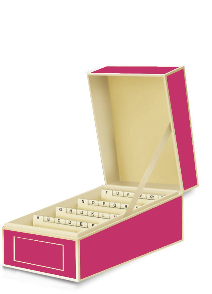 Semikolon Business Card File Box, Dividers A to Z, Pink (3230006) by Semikolon by Pierre Belvedere