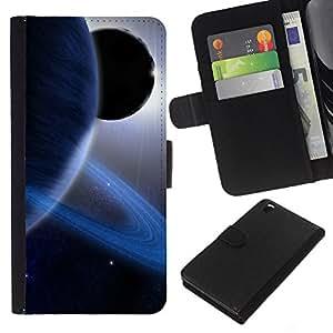Planetar® Modelo colorido cuero carpeta tirón caso cubierta piel Holster Funda protección Para HTC DESIRE 816 ( Space Planet Galaxy Stars 13 )