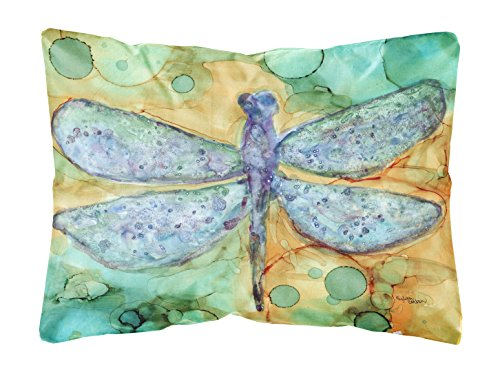 Dragonfly Treasure - Caroline's Treasures Abstract Dragonfly Fabric Decorative Pillow, 12