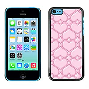 Paccase / SLIM PC / Aliminium Casa Carcasa Funda Case Cover - Pink Love - Apple Iphone 5C