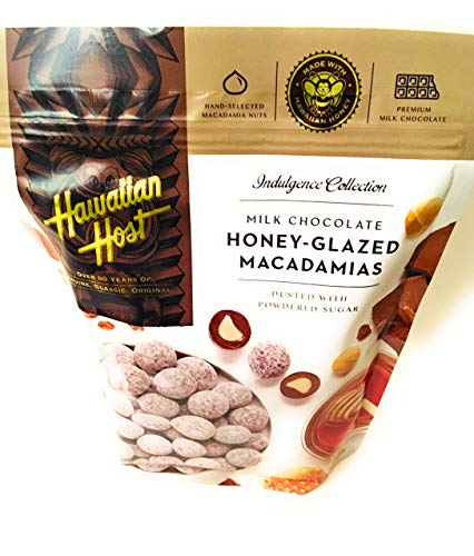 Hawaiian Host Milk Chocolate Honey Glazed Macadamia Nuts 24 oz