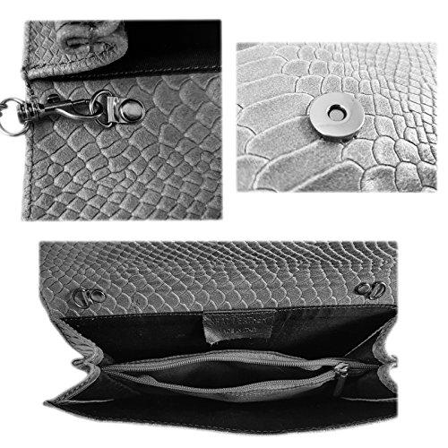 Helltaupe Freyday Pochette femme pour Made in Italy Snake 7Yxqr1HO7w