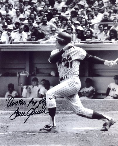 Tom Seaver Batting Autographed/Original Signed 8x10 Photo with the Inscription