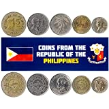 Collection of 5 Coins Philippine Foreign Currency
