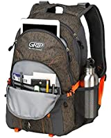 Grip by High Sierra Rift Backpack - Vander (Gridlock, Mercury, Electric Orange)