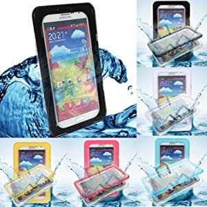 Waterproof Snowproof Hard Case Cover For Samsung Galaxy S4 S3 Note --- Color:Black