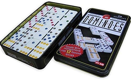 Conjunto de juguete Teja Domino Juegos Caja De Hierro Dominos Conjunto Doble Doble 6 9 12 doble del punto del color Dominó Juego de Juego de dominos Juguetes Home Edition Suministros de