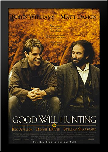 Good Will Hunting 28x40 Large Black Wood Framed Print Movie Poster (Hunting Framed)