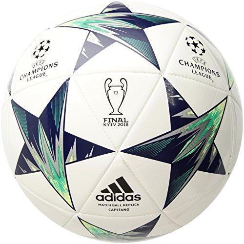 adidas Performance Champions League Finale Kiev Capitano Soccer Ball, White/Blue, Size 4