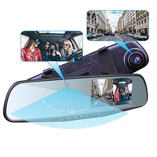 Provision-ISR Hidden Dual Dash Cam, Hidden Interior Mirror Camera and a HD 1080p Front DVR Recorder, Requires One DIY Installation, Exclusive