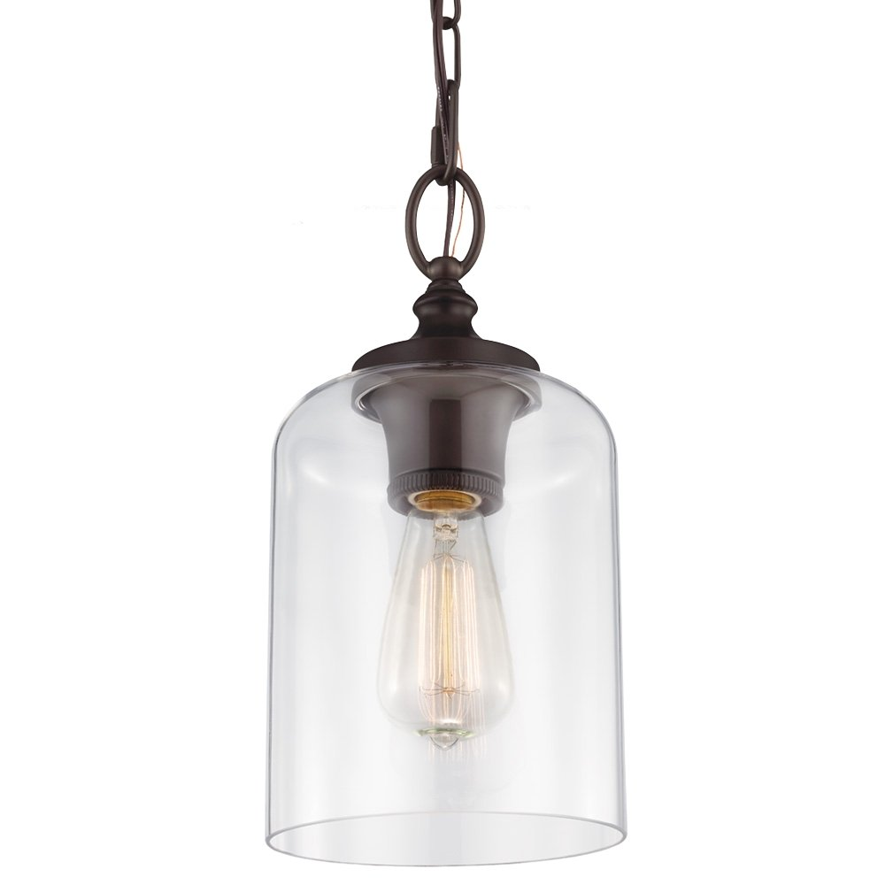 Feiss P1310ORB 1-Light Hounslow Mini Pendant, Oil Rubber Bronze