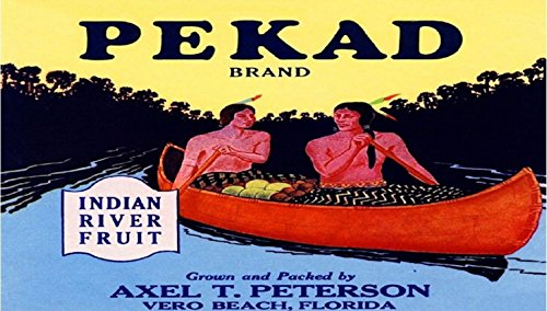 Vero Beach Florida Indian River Pekad Orange Citrus Fruit Crate Label Art Print