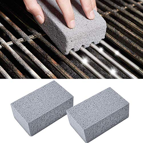 4Pcs BBQ Grill Cleaning Brick Block Barbecue Cleaning Stone BBQ Racks Stains Grease Cleaner BBQ Tools Kitchen Gadgets…