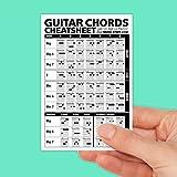 "Guitar Chords Cheatsheet Laminated Pocket Reference 4""x6""  Best Music Stuff"