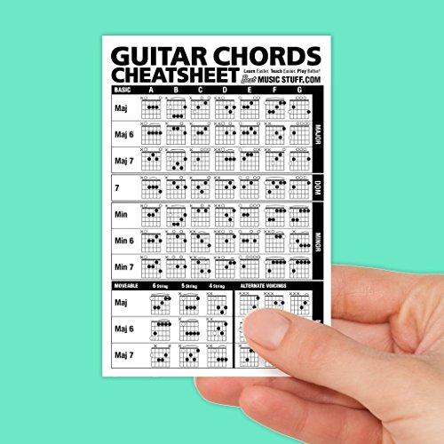 laminated guitar chord chart - 1