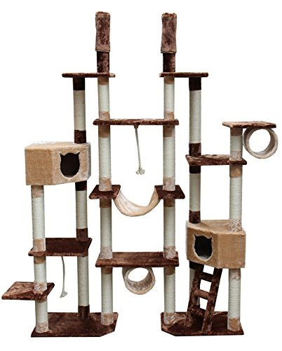 Giant Floor to Ceiling Cat Tree Tower Huge Kitty Playground (Cat Tree Outdoor)