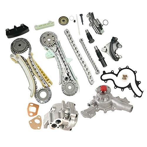 MOCA Timing Chain Kit w/Oil Pump & Water Pump Kit for 1997-2002 Ford Explorer Ranger & Mazda B4000 & Mercury Mountaineer 4.0L V6 SOHC 12V E ()