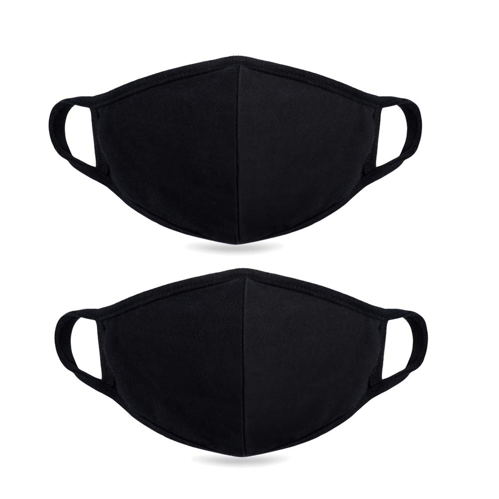 Fine dust mask, Anti-dust Protection Best Warm Windproof Mask - 100% Cotton Face Masks Comfy Respirator - Mouth Masks Anti Pollution Washable Reusable Pollen Masks for Men Women 2 Pieces