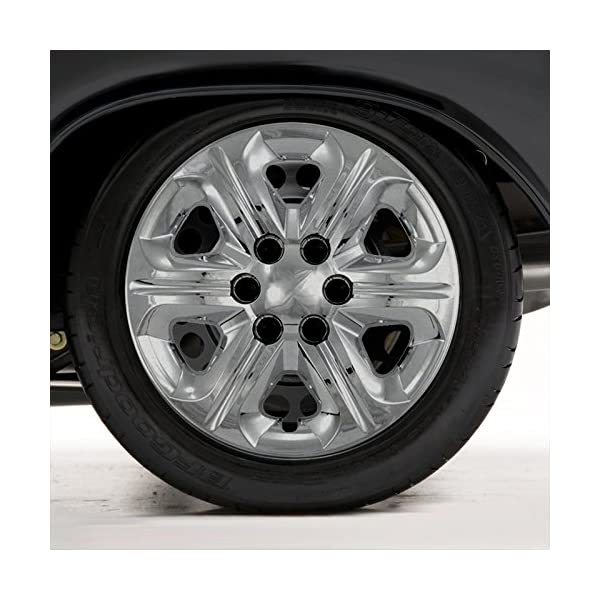 Upgrade-Your-Auto-Set-of-Four-17-Chrome-Hubcap-Wheel-Covers-for-2011-2014-Chevy-Traverse-Bolt-on