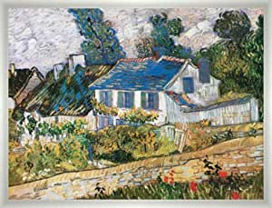 """Framed Picture Vincent Van Gogh, """"Case Ad Auvers"""", 30 X 24 - Aluminium Basic S Silver Frosted"""
