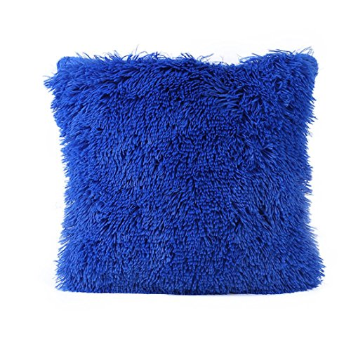 Sweater Wool Plush (Toponly Home ❤️ Clearance Removable Pillow Case, Decor Plush Sofa Waist Square Throw Cushion Cover (Blue, 43cm43cm/1616inch))
