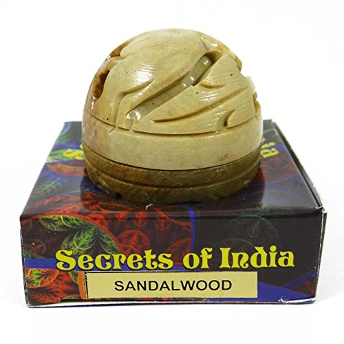 Sandalwood Solid Perfume (Natural Sandalwood Solid Perfume Body Musk In Stone Jar 8)