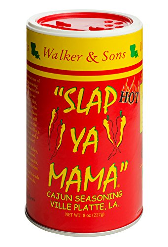(Slap Ya Mama Louisiana Style Cajun Seasoning, Hot Blend, MSG Free and Kosher, 8 Ounce Can)