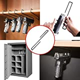 """GERO Versatile Tactical Gun Rack Space Saving Gun Holder Storage Solution Perfect for Gun Cabinets and Safes Closet Shelves and Vaults with a Length of 10"""" Makes a Perfect Pistol Rack 5 pack"""