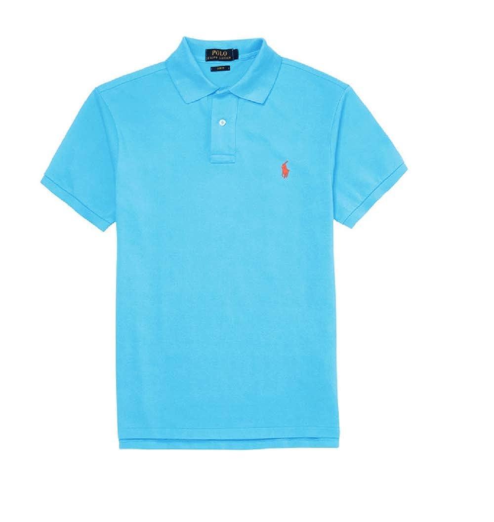 087cedc533 Ralph Lauren Polo Custom Slim-Fit -Cotton Pink Pony Polo Shirt Men's ...