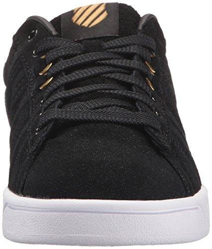 K-Swiss Womens Hoke Fantasy Sde CMF Fashion Sneaker Black/Gold/White 9m1jVky3L4