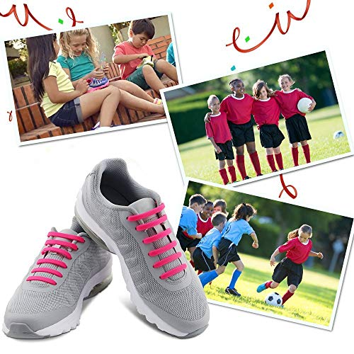 HOMAR No Tie Shoelaces for Kids and Adults  Best in Sports Fan Shoelaces  Waterproof Silicone Flat