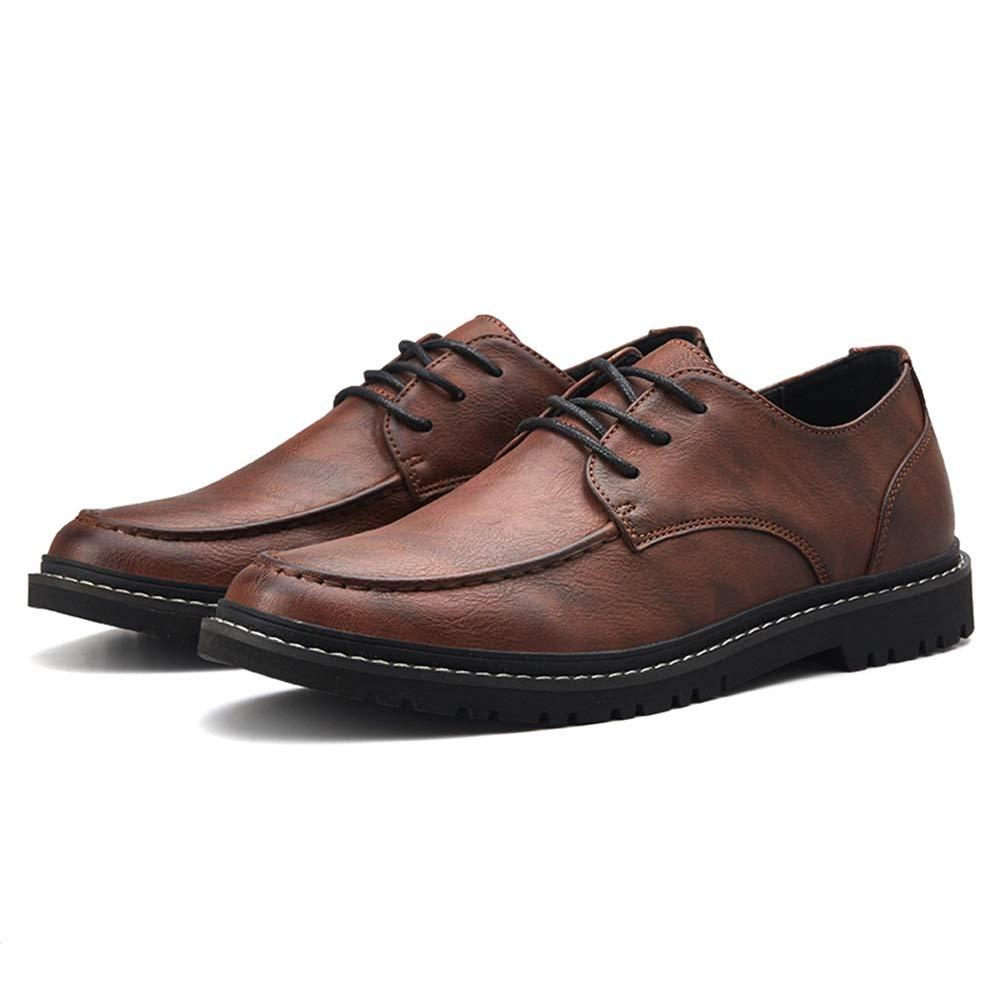 TALLA 40 EU. Jiuyue-shoes, Moda Oxford Casual Low-Top Light Comfortable Lacing Estilo británico Zapatos Formales para Hombres,Zapatos Oxford Hombre (Color : Marrón, tamaño : 40 EU)