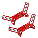 Corner Clamps (3', 2pcs), JTDEAL 90 Degree Right Angle Clamp Mitre Clamp for Wood Working Metal DIY Glass Picture Framing Jig, Quick Grip Light Duty