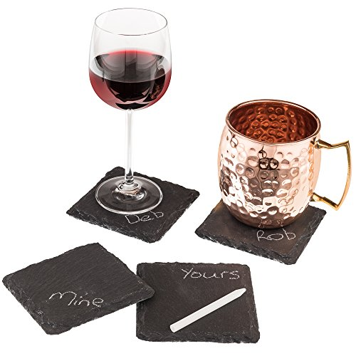 4 Sizes to Choose: Stone Age Slate coasters (4