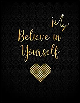 Believe In Yourself Personalized Lined Journal With Inspirational