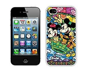 Stained Glass Mickey And Minnie (2) Hottest Customized Design iPhone 4s Cover Case