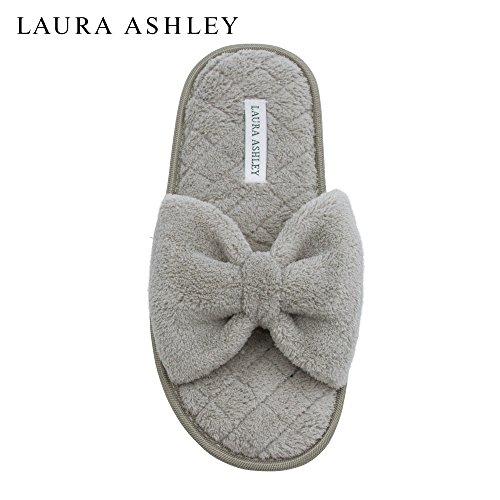 Laura Ashley Mesdames Pantoufles Ouvertes Toe Spa Avec Arc Et De La Mousse  De Mémoire Semelle b98bd9003640