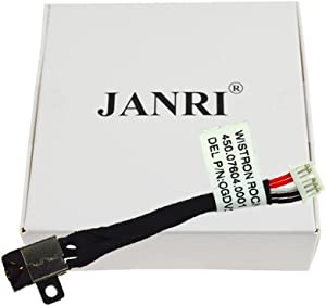 JANRI Replacement GDV3X 450.07604.0001 DC POWER JACK HARNESS CONNECTOR POWER DC-IN CABLE for Dell Inspiron 11 3162 i3162-0001RED P24T 3168 I3168-0000 3164 I3168-0000 Inspiron P25T P25T001 P25T002
